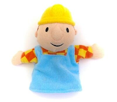 Vintage Bob The Builder Hand Puppet Toy Soft Plush Boy Doll Construction Worker