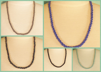 "10 PCS  22"" Handmade Beaded Rope Chain Necklace WHOLESALE LOT 5 Colors"