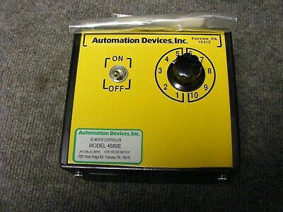 Automation Devices Inc. DC Motor Controller Model 4580E 240VAC IN for 3/4HP New