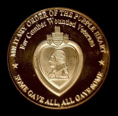 """20 /""""Military Order of Purple Heart/"""" 1oz .999 Copper rounds 1 Roll Plastic Tube"""