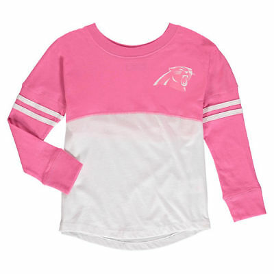 Carolina Panthers 5th   Ocean by New Era Girls Youth Varsity Crew Long  Sleeve 0594326e1