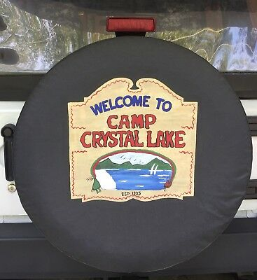 Friday the 13th Crystal lake jeep tire cover