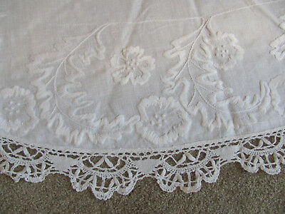 4Pc EDWARDIAN-20s LOT *PANSY FLWR Embrd RETICELLA LACE Cloth & DAMASK TOWELS $22