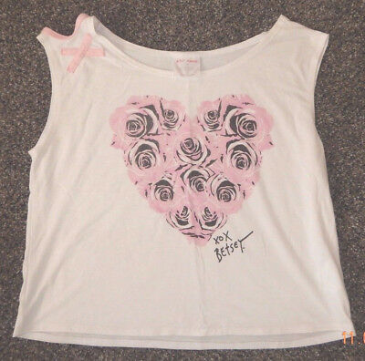 Youth Size Large--Capezio Brand Betsey Johnson Heart/flowers Dance Top--Exc
