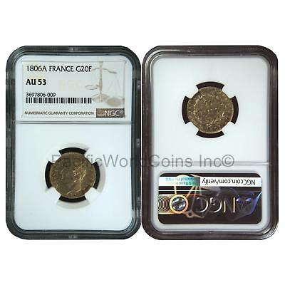 France 1806A 20 Francs Gold NGC AU53 SKU#6410
