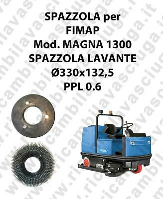 STANDARD BRUSH  for scrubber dryer FIMAP model MAGNA 1300 ⌀ 330 x 132.5 PPL 0.