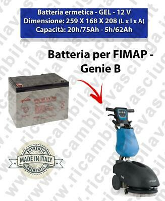 Battery GEL for GENIE scrubber dryer FIMAP
