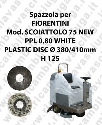 Cleaning Brush PPL 0,80 WHITE for scrubber dryer FIORENTINI Model SCOIATTOLO 75