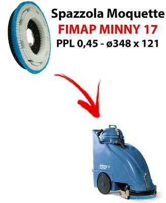 MOQUETTE BRUSH for scrubber dryer FIMAP MINNY 17. Model: PPL 0,45 C/FLANGIA ⌀3