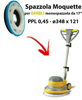 MOQUETTE BRUSH for scrubber dryer COMAC ABILA 45. Model: PPL 0,45 C/FLANGIA ⌀3