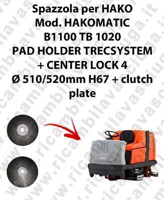 PAD HOLDER TRECSYSTEM  for scrubber dryer HAKO Model HAKOMATIC B1100 TB 1020