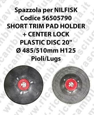 SHORT TRIM PAD HOLDER + CENTERLOCK for scrubber dryer NILFISK Code 56505790