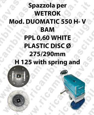 Cleaning Brush PPL 0,60 WHITE for scrubber dryer WETROK Model DUOMATIC 550 H-V B