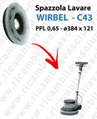 Cleaning Brush  for single disc WIRBEL C43. Model: PPL 0,65  ⌀384 X 121