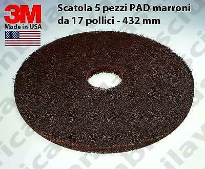 3M PAD, 5 peaces/box , Brown color from 17 inch - 432 mm