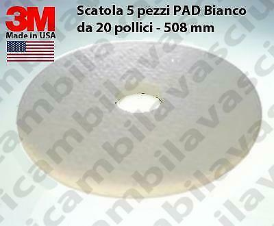 3M PAD, 5 peaces for box, White Color,  20 inch - 508 mm