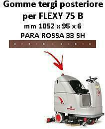 FLEXY 75 B Back Squeegee rubber Comac
