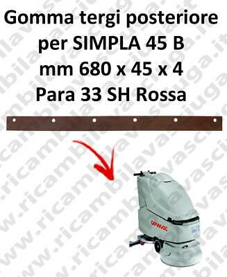 SIMPLA 45 B Back Squeegee rubber for COMAC accessories, reaplacement, spare part