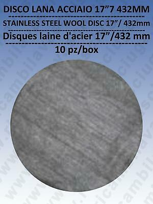 PAD steel wool  17 /  432 mm  10 pieces for SCATOLA, for scrubber dryer e single