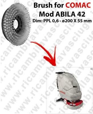STANDARD BRUSH  for scrubber dryer COMAC ABILA 42 . model: PPL 0,6 - ⌀200 X 55
