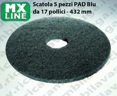 MAXICLEAN PAD, 5 peaces/box ,bluee color  17 inch - 432 mm | MX LINE