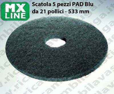 MAXICLEAN PAD, 5 peaces/box ,bluee color  21 inch - 533 mm | MX LINE