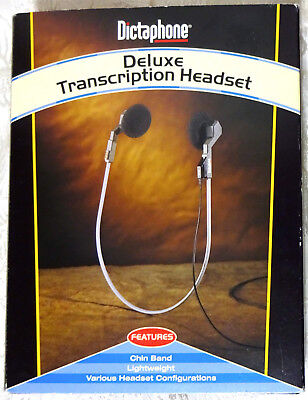 Dictaphone Deluxe Transcription Chin Band Headset - Missing Single Ear Clip