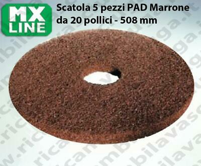 MAXICLEAN PAD, 5 peaces/box ,Brown color  20 inch - 508 mm   MX LINE