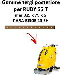 RUBY 55 T Back Squeegee rubber Adiatek