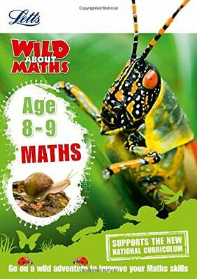 Maths Age 8-9 (Letts Wild About) by Letts KS2 Book The Cheap Fast Free Post