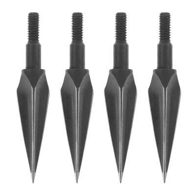 4pcs Stainless Steel Hunting Archery Trigonous Arrow Heads Broadheads Black