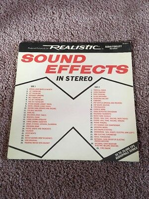 AUTHENTIC SOUND EFFECTS Lp Record Album Free Shipping