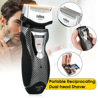 2in1 Men Rechargeable Cordless Electric Shaver Razor Trimmer Facial Double Foil