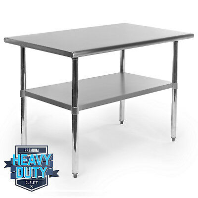 "Stainless Steel Commercial Kitchen Work Food Prep Table - 30"" x 48"""