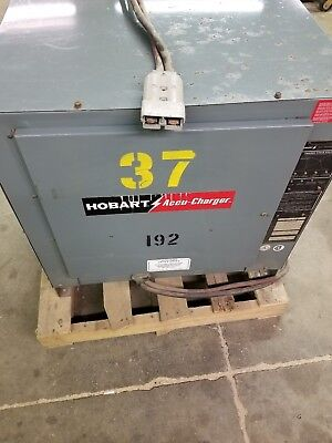 Hobart 36 Volt Automatic Forklift Battery Charger Working