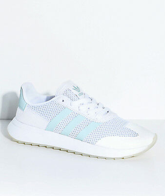 big sale d24c0 f53a4 Adidas Women s Flashback White Tactical Green Sneaker BY9685 Size 8 NIB  85