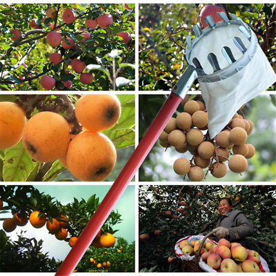 Metal Fruit Picker Catcher Picking Tool F/ Agricultural Garden Home Orchard Park