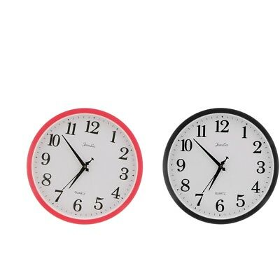 2Pcs Modern Large 12 inches Wall Clock Quartz Digital Clock Office Home Deco