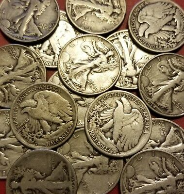 Walking Liberty Half Dollars , 90% Silver Coin Lot , Choose How Many