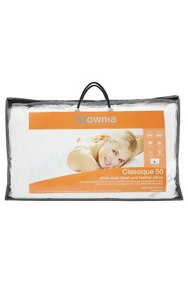 Downia CLASSIQUE 50 COLLECTION White Duck Down & Feather Pillow Standard & Ki...