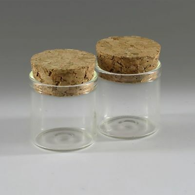10pcs Empty Sample Vials Clear Glass Bottles with Corks Jars Small bottl 6ML
