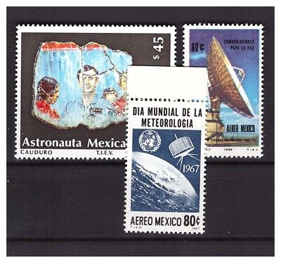 s22823) MEXICO from 1967 MNH** Space all different sets 3v
