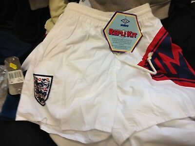 England Shorts 1980 Training Shorts At £12 In White With Pocket