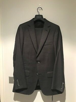 Godwin Charli Madrid Pure Wool Suit Charcoal Micro Pin Dot Size 38/32
