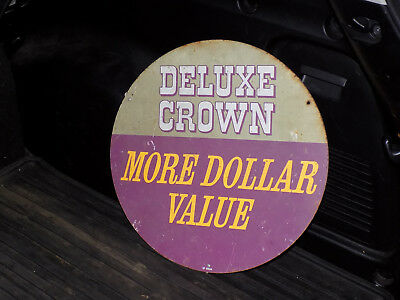 Metal Deluxe Crown Sign GULF or Tire Display