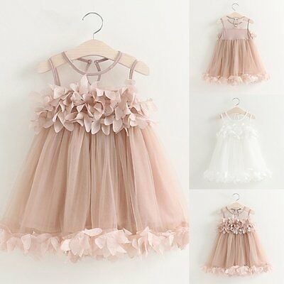 Flower Girls Kids Toddler Baby Princess Party Wedding Pageant Tulle Tutu Dresses
