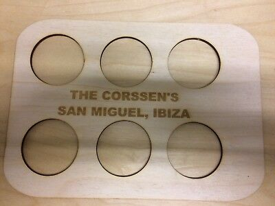 Wooden Holiday Drinks Tray (free personalisation)