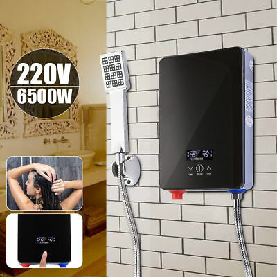 220V 6500W Tankless Instant Electric Hot Water Heater for Home Bathroom Shower S