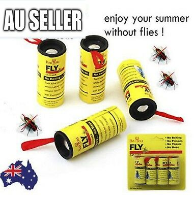 16 Rolls Sticky Fly Trap Paper Yellow Traps Fruit Flies Insect Glue Catcher 2018