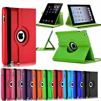 360 Rotate Leather Magnetic Stand Case Cover For Apple iPad 2/3/4 Mini Air 2 Lot